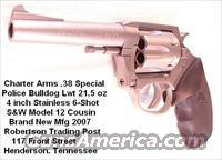 Charter .38 +P Police Bulldog Stainless 4 in 6 Shot Lwt  Guns > Pistols > Charter Arms Revolvers