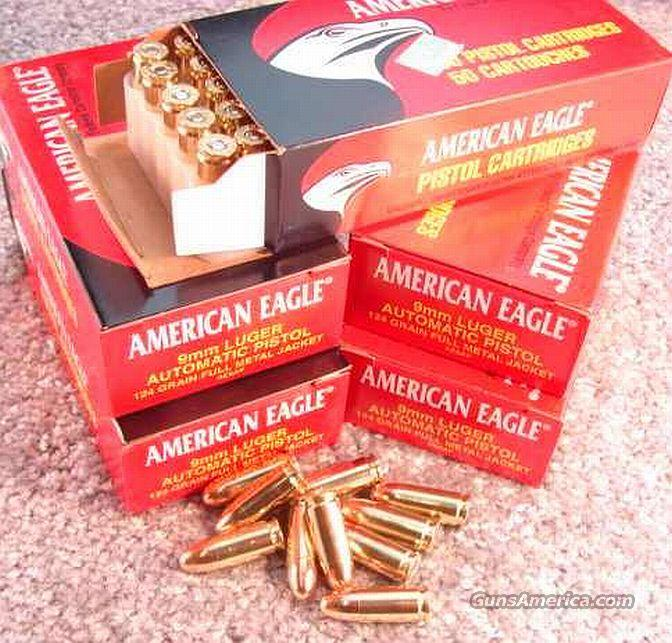 Ammo: 9mm Federal/Amer Eagle 124 FMC 50 Bx   Non-Guns > Ammunition