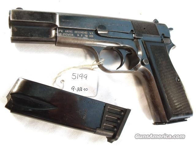 FN Browning 9mm Hi-Power Israeli Good 1981 w/2 Magazines High Power HiPower Fabrique Nationale Belgium Belgian  Guns > Pistols > Military Misc. Pistols Non-US