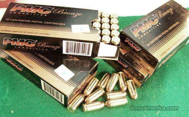 Ammo: .380 PMC 90 grain FMC 50 round Boxes Case Lots Available Ammunition Cartridges 380 Automatic 9mm Kurz Full Metal Jacket P. M. C.   Non-Guns > Ammunition