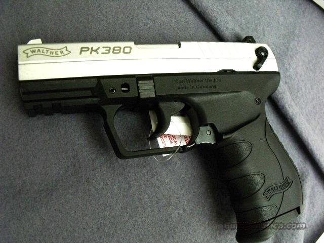 Walther .380 PK380 Nickel & Polymer Brand New in Box  Guns > Pistols > Walther Pistols > Post WWII > PP Series