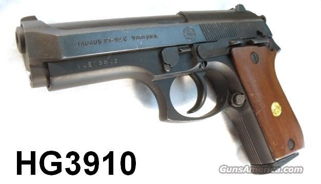 Taurus 9mm PT-92 C Blue Compact VG-Exc St. James Parish Louisiana Sheriff's Department mfg ca 1993 Beretta 92 SBC Competitor  Guns > Pistols > Military Misc. Pistols US > Other