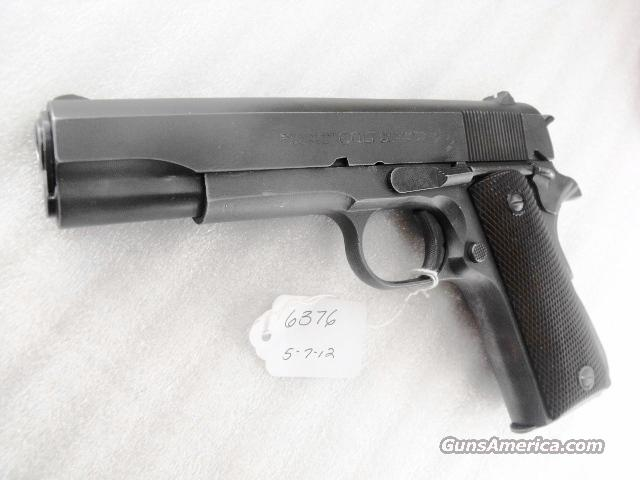 Colt .45 ACP 1911A1 GI Frame 1944 with 1960s Commercial Slide Full Parkerized VG   Guns > Pistols > Colt Automatic Pistols (1911 & Var)