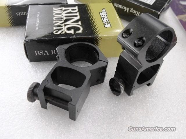 BSA Weaver Picatinny Scope Rings 1 inch High See Through New SMDHWHR  Non-Guns > Scopes/Mounts/Rings & Optics > Mounts > Other