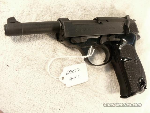 Walther 9mm P-38 variant P1 Lightweight Parkerized VG 1964 P-1 Federal German Police Bundespolizei CA OK P38   Guns > Pistols > Walther Pistols > Post WWII > Large Frame Autos