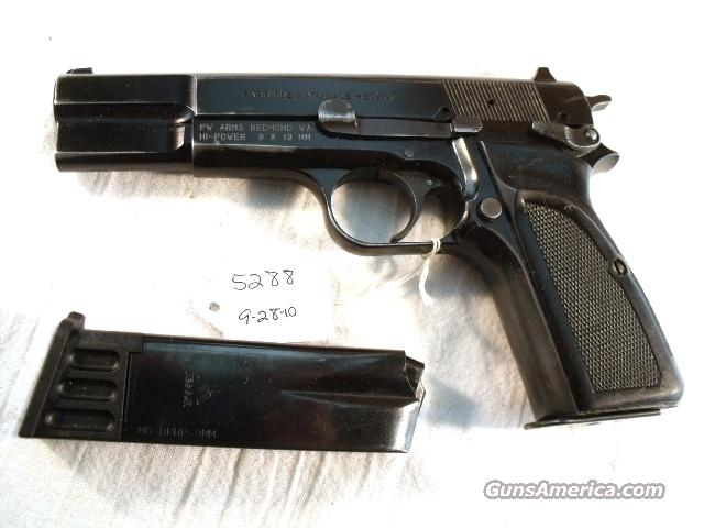FN Browning 9mm Hi-Power Israeli Good1993 w/2 Magazines  Guns > Pistols > Military Misc. Pistols Non-US