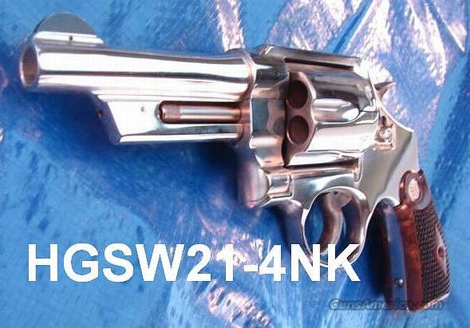 S&W .44 Nickel 4 in 21-4 NIB  Guns > Pistols > Smith & Wesson Revolvers > Full Frame Revolver