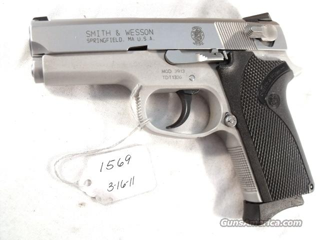 Smith & Wesson 9mm Compact model 3913 Stainless VG-Exc 1 Magazine California Department of Corrections   Guns > Pistols > Smith & Wesson Pistols - Autos > Alloy Frame
