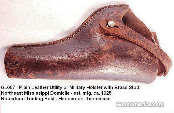 Holster 1920s Leather 4 in Revolver Good Cond  Non-Guns > Cowboy Action/Western