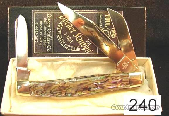 Knife: Queen #26 Abalone Pearl Stockman Mint in Box  Non-Guns > Knives/Swords > Knives > Folding Blade > Hand Made