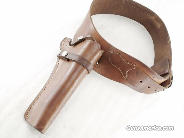 Holster and Belt Smith & Wesson Leather Rig 1970s 6 inch Medium Single Action Revolver and 34-36 Belt Very Good Condition	  Non-Guns > Holsters and Gunleather > Revolver
