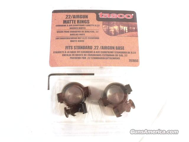 Scope Rings Tasco .22 Grooved Receiver 1 inch Black Matte NIB  Non-Guns > Scopes/Mounts/Rings & Optics > Mounts > Other