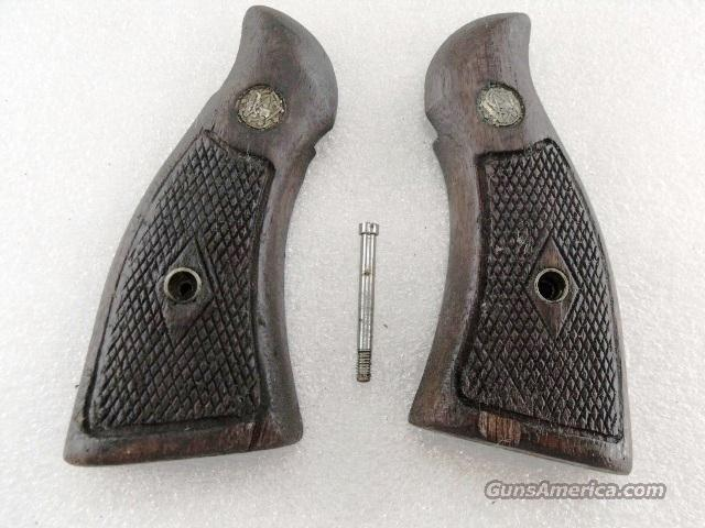 Smith & Wesson Grips K Square Magna Diamond Pre-1962 Walnut GR0608  Non-Guns > Gun Parts > Grips > Smith & Wesson