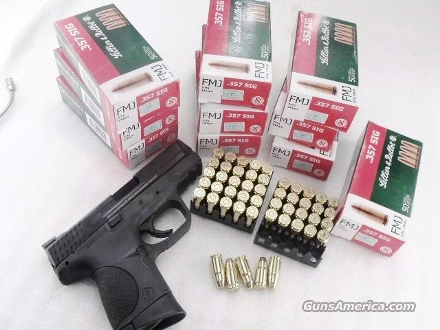Ammo: .357 Sig S&B Czech 140 grain FMJ 500 Round Lot of 10 Boxes 357 Sig caliber Sellier & Bellot Czechoslovakia Full Metal Jacket Brass Case Ammunition Cartridges   Non-Guns > Ammunition
