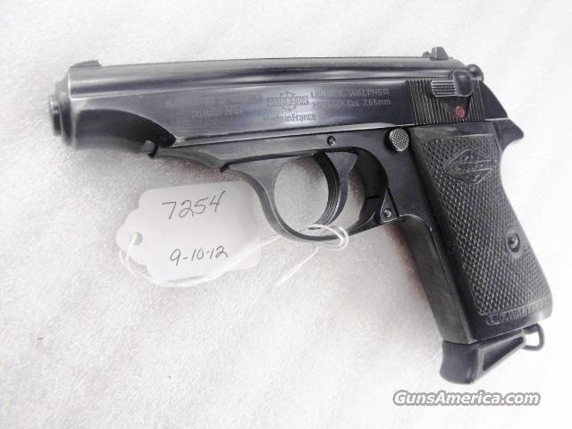 Walther .32 PP French Manurhin 32 Automatic Blue Steel VG-Exc 1970s Mfg. C&R CA OK    Guns > Pistols > Walther Pistols > Post WWII > PPK Series