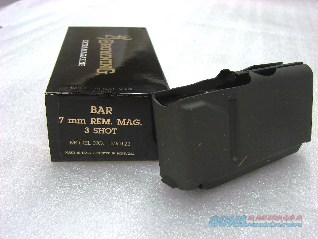 Browning BAR Factory 3 Shot Magazine for 7mm Remington Magnum caliber Old Model Pre 1994 B.A.R. No Mk II Browning Automatic Rifle Pre-Mark II Long Action 7 Rem Mag 1320121  Non-Guns > Magazines & Clips > Rifle Magazines > Other