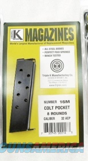 Colt 1903 .32 ACP Triple K 16M 8 Round Magazine Hammerless 32 Automatic Pocket Model New Blue Steel Buy 3 Ships Free!   Non-Guns > Magazines & Clips > Pistol Magazines > Other