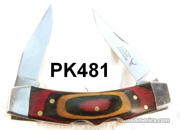 Knife White Tail Lockblade Muskrat Laminated Panels Pakistan ca. 1985  Non-Guns > Knives/Swords > Knives > Folding Blade > Imported