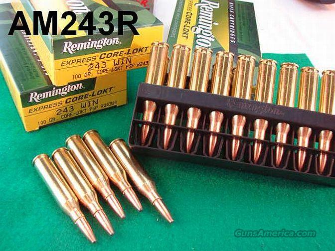 Ammo: .243 Rem 100 gr Core Lokt 1, 6 or 10 Boxes  Non-Guns > Ammunition