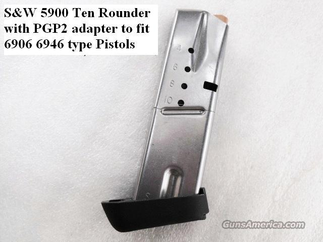 Lots of 3 or more Magazine Grip Adapters S&W 6906 type Converts 5900 Mag to 6900 NIB Smith & Wesson 9mm Models 469 669 6904 6906 6946 $19 per on 3 or more  Non-Guns > Gun Parts > Grips > Smith & Wesson