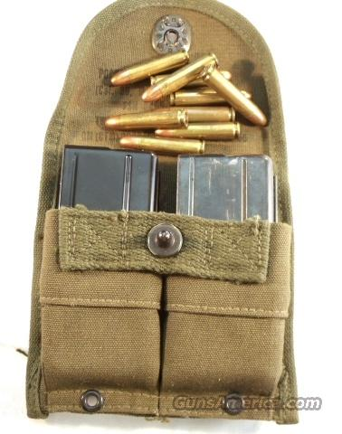 Ammo: .30 M-1 Carbine Korea w/2 Magazines &  Case Double OD Green 1956 Exc  Non-Guns > Collectible Cartridges