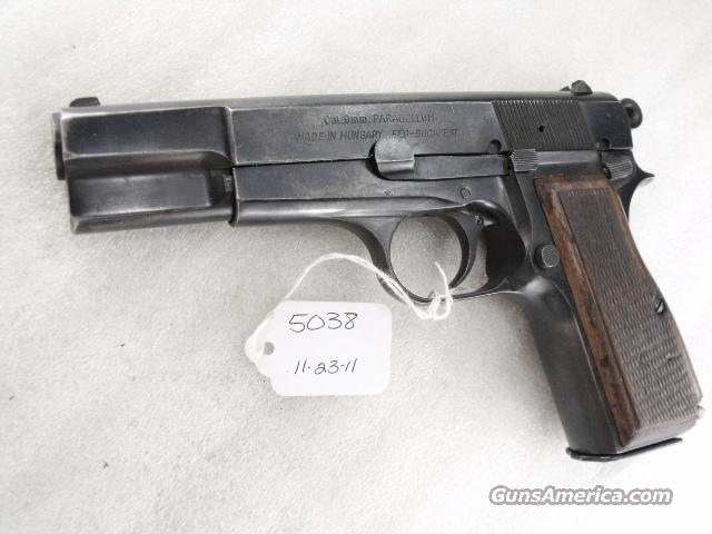 FEG Hungary 9mm Browning Hi-Power Copy FEG Hungarian P9M PJK-9HP Commander Hammer 1980s G-VG  Guns > Pistols > Surplus Pistols & Copies