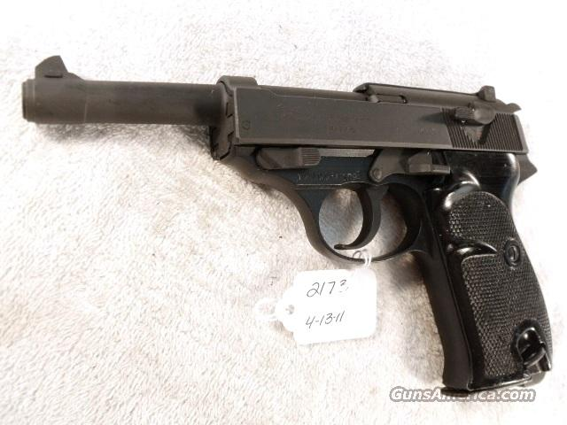 Walther 9mm P-38 variant P1 Lightweight Parkerized Steel Excellent 1977 P38 P-1 Federal German Police Bundespolizei CA OK  Guns > Pistols > Walther Pistols > Post WWII > P38