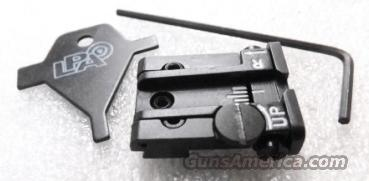 Sig Springfield Armory Adjustable Rear Sight LDA Italy White Dot Micro Style New .263 / .264 dovetail but .212 Overall Height P220 225 226 228 229 239 XD Series  Non-Guns > Iron/Metal/Peep Sights