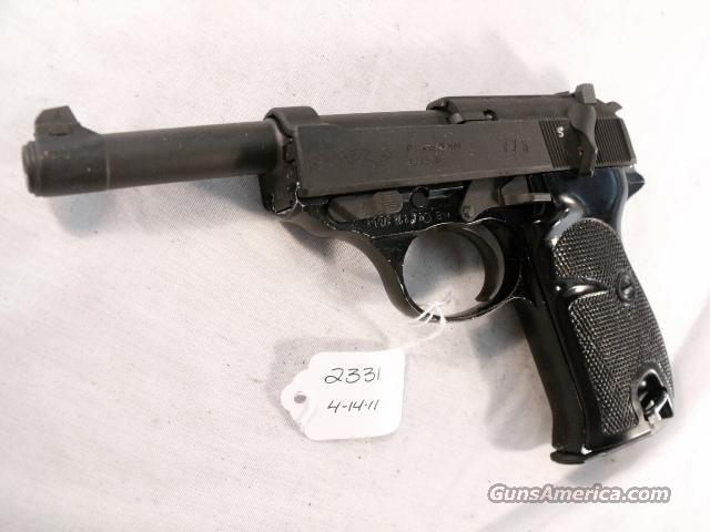 Walther 9mm P-38 variant P1 Lightweight Parkerized VG 1975 P38 P-1 Federal German Police Bundespolizei CA OK  Guns > Pistols > Walther Pistols > Post WWII > Large Frame Autos