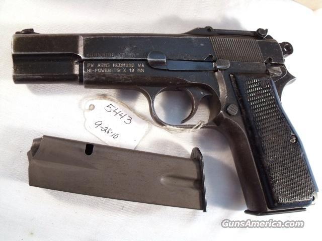 Browning 9mm type Inglis Hi-Power WWII / Israeli Good Slotted High Power HiPower Inglis English Canada Canadian WWII World War Two  Guns > Pistols > Military Misc. Pistols Non-US
