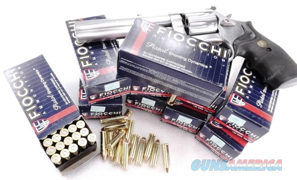 Ammo: .357 Magnum Fiocchi 250 Round Lots of 5 Boxes $19.80 per 50 round box 142 grain Hornady TMJ FMC Total Full Metal Case Jacket 357 Mag Ammunition Cartridges AM357Fcc  Non-Guns > Ammunition