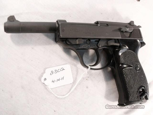 Walther 9mm P-38 variant P1 Lightweight Parkerized VG 1976 P38 P-1 Federal German Police Bundespolizei CA OK  Guns > Pistols > Walther Pistols > Post WWII > Large Frame Autos