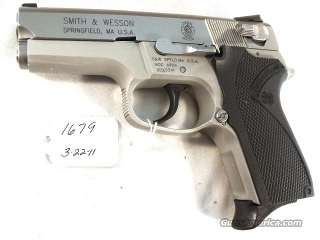 Smith & Wesson 9mm model 6906 Compact Lightweight Stainless 13 Shot 1 Magazine VG-Exc 1999 California Department of Corrections S&W 469 669 Descendant  Guns > Pistols > Smith & Wesson Revolvers > Pocket Pistols