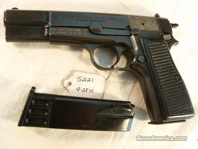 FN Browning 9mm Hi-Power Israeli Good Condition mfg 1982 w/2 Magazines High Power HiPower Fabrique Nationale Belgium Belgian  Guns > Pistols > Browning Pistols > Hi Power