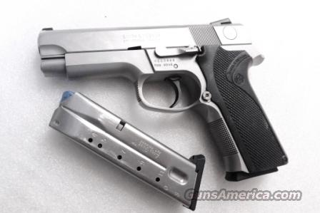 Smith & Wesson .40 model 4046 Stainless Steel Frame DAO 3 Dot 12 Shot 2 Magazines VG mfg 1997 Milwaukee County Sheriff Dept   Guns > Pistols > Smith & Wesson Pistols - Autos > Steel Frame