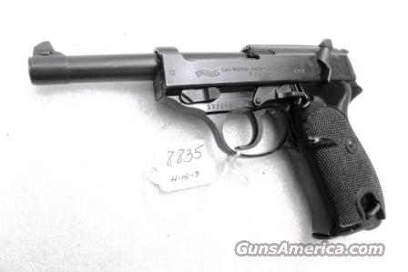 Walther 9mm P38 Variant P1 Lightweight Military 1963 P-1 German Federal Border Guard BGS CA C&R OK with 1 Factory 8 Shot Magazine  Guns > Pistols > Walther Pistols > Post WWII > P38