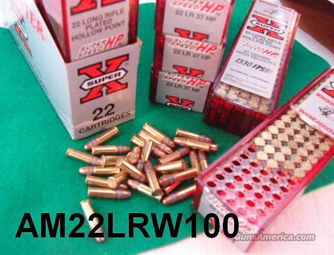 Ammo: Win .22 LR 37 gr HP 2500 round Half Case lot 25 Boxes  Non-Guns > Ammunition