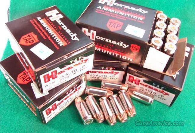Ammo: .45 ACP +P 200 round Factory Case of 10 Boxes Hornady 200 grain TAP FPD 45 Automatic 91128 Ammunition Cartridges  Non-Guns > Ammunition