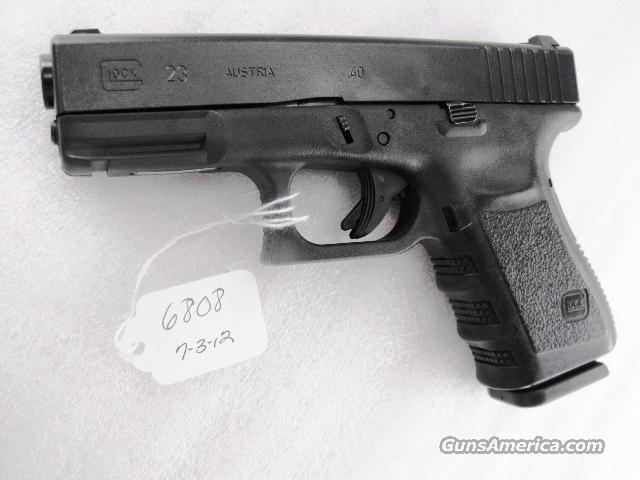 Glock .40 S&W Model 23 Third Generation 14 Shot 1 Magazine Exc Indianapolis PD mfg 2005 40 Caliber  Guns > Pistols > Glock Pistols > 23