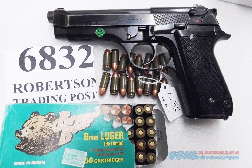 Beretta 9mm model 92S Italian MPs JS92F300M type / ancestor c1978 VG 16 round 1 Magazine Brunitron Frame, Blue Barrel and Slide VRBB  Guns > Pistols > Beretta Pistols > Model 92 Series