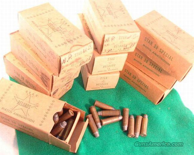 Ammo: .38 Buford Pusser Colleague Reloads Star 1960s Boxes  Non-Guns > Collectible Cartridges