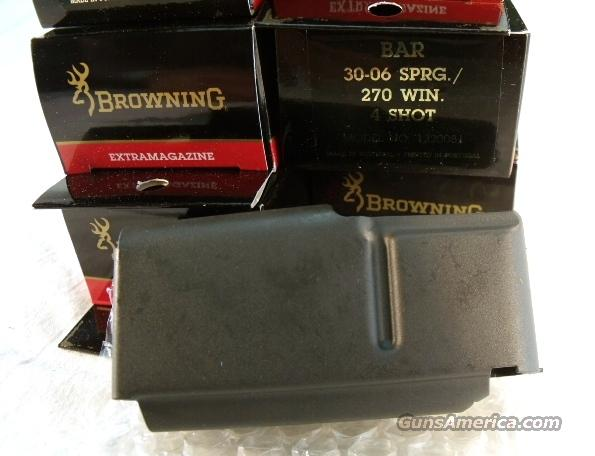 3 Browning BAR Factory 4 Shot Magazines for .270, .280, .30-06 3x$23 Old Model Pre 1994 B.A.R.  No Mk II Browning Automatic Rifle Pre-Mark II Long Action 270, 280, 3006 1320081  Non-Guns > Magazines & Clips > Rifle Magazines > Other