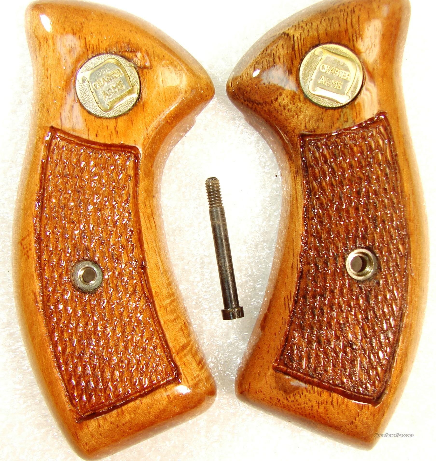 Grips Charter Arms Factory Goncalo 1970s Excellent Refinish Undercover Bulldog Pathfinder Undercoverette   Non-Guns > Gunstocks, Grips & Wood