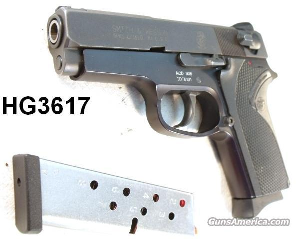 S&W 9mm model 908 Excellent Condition Blue Box 2 Mags Economy 3913 Smith & Wesson Traditional Double Action with Magazine Safety  Guns > Pistols > Smith & Wesson Pistols - Autos > Alloy Frame