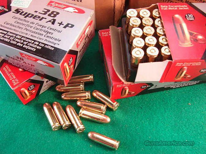 Ammo: .38 Super Aguila 130 FMC 50 Box   Non-Guns > Ammunition