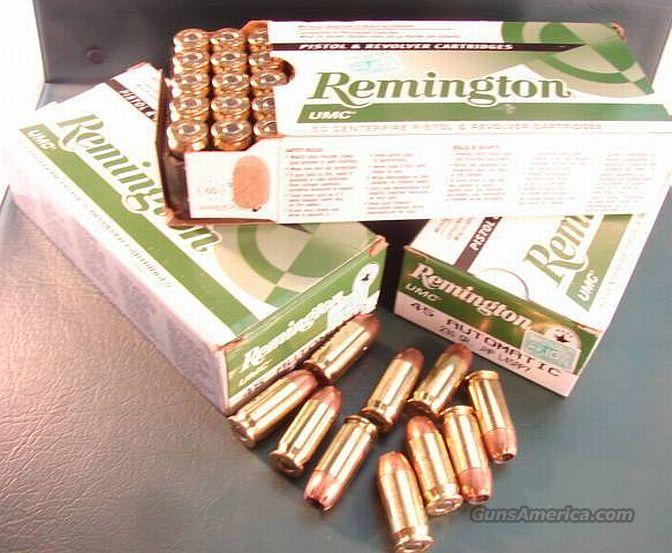 Ammo: .45 ACP Remington 230 grain JHP 50 Box Case Lots Available UMC Jacketed Hollow Point   Non-Guns > Ammunition