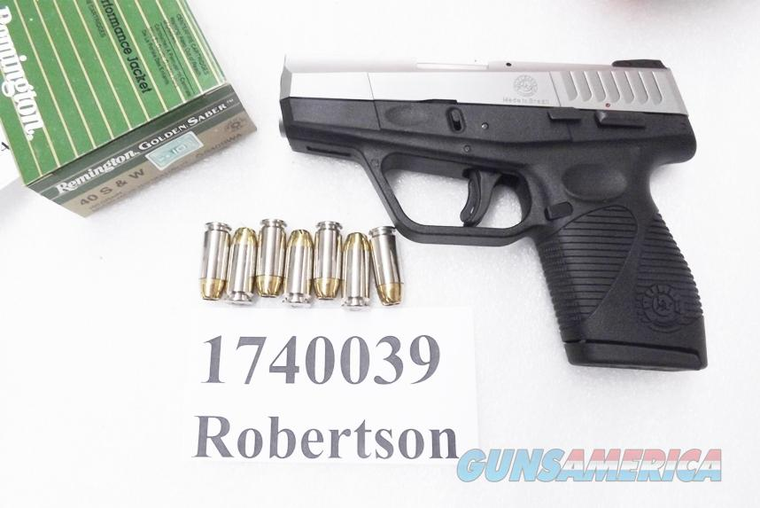 Taurus .40 S&W PT740 Slim Frame .98 thick Stainless 7 Shot Sub Compact 40 Smith & Wesson Caliber 1740039FS New in Box 1 Magazine  Guns > Pistols > Taurus Pistols/Revolvers > Pistols > Polymer Frame
