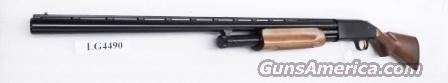 Mossberg 12 gauge model 500 All Purpose Bright Blue & Checkered Hardwood 3 inch 28 inch Ported Vent Rib Accu-choke 1 Tube .715 Mod Recoil Pad Excellent Condition Factory Demo 50120U  Guns > Shotguns > Mossberg Shotguns > Pump > Sporting