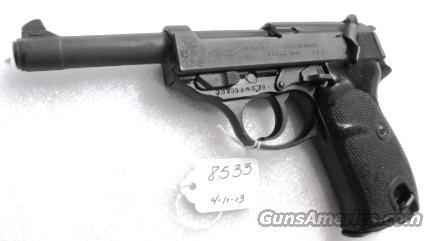 Walther 9mm P38 Lightweight Military 1959 P-38 German Federal Border Guard BGS CA C&R OK with 1 Factory 8 Shot Magazine  Guns > Pistols > Walther Pistols > Post WWII > P38