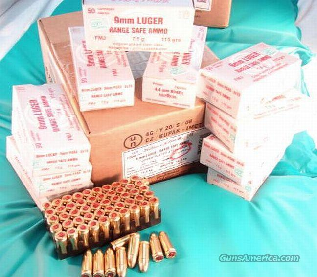 Ammo: 9mm S&B Czech 1000 Round Case of 20 Boxes 115 grain Full Metal Case Jacket Steel Case Range Safe 9x19 Luger Parabellum Sellier & Bellot Ammunition Cartridges  Non-Guns > Ammunition